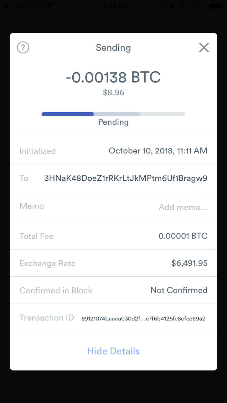 Bumping RBF Enabled Transaction - No ability to bump transaction fee found. Note Transaction not sent with RBF enabled.